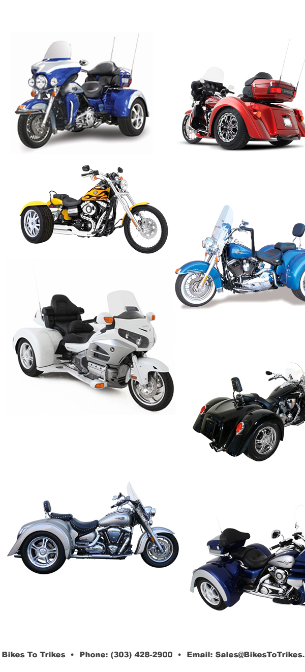 Bikes To Trikes, Motorcycle trike installation and service