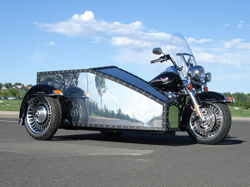 Oculus Wheel Chair Accessible Sidecar with Harley-Davidson Road King Motorcycle.